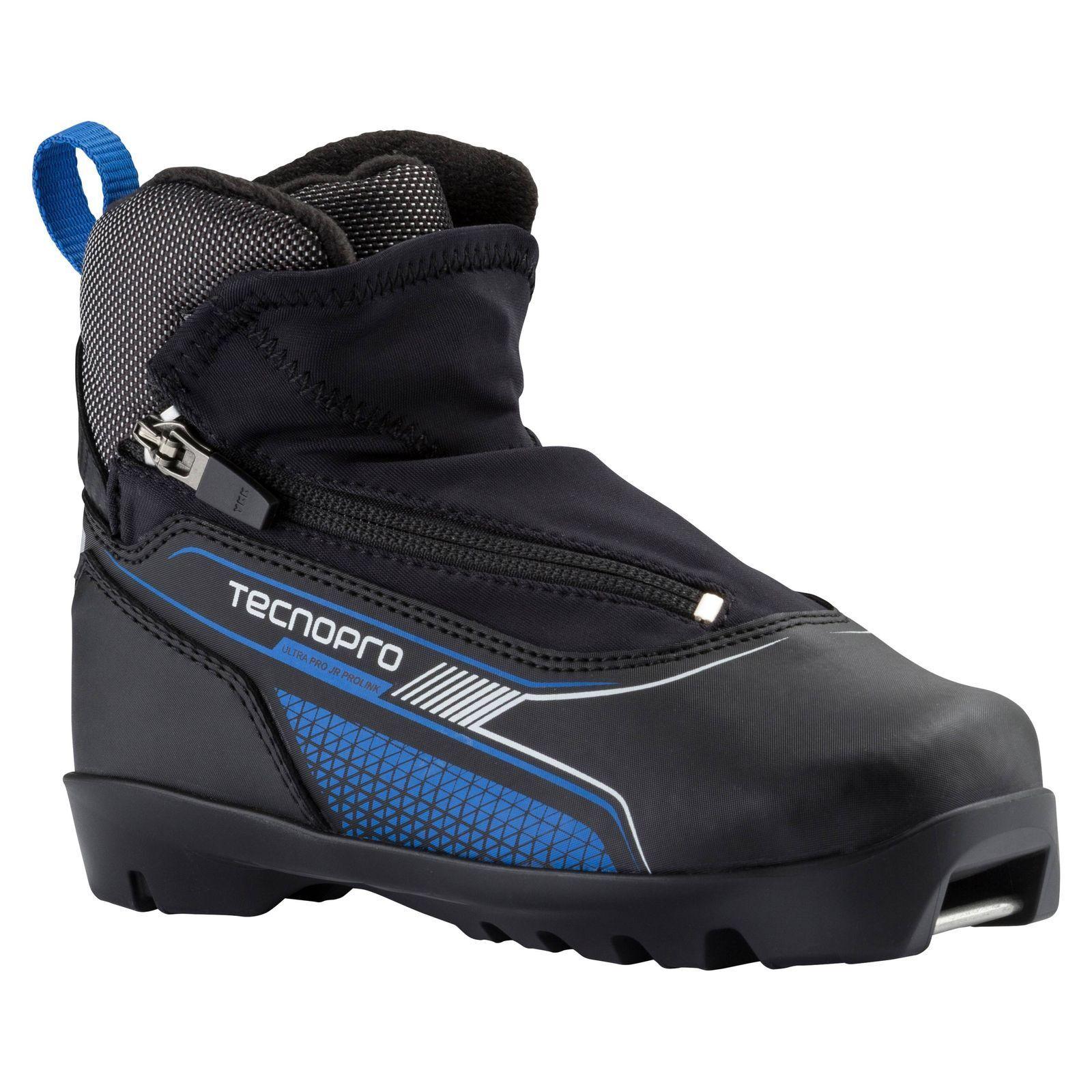 TecnoPro Kinder Langlaufschuh Ultra Pro Jr ProlinK für NNN Bindung black blue
