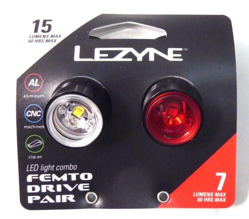 Lezyne Femto Drive Front//Rear LED Light Set Black