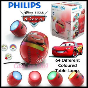 New philips micro living colors disney cars table lamp 64 different image is loading new philips micro living colors disney cars table mozeypictures Choice Image