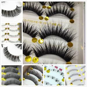 5-or-10-Pairs-Long-Natural-Thick-Makeup-Fake-False-Eyelashes-Handmad-Eye-Lashes