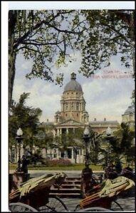 DURBAN-Suedafrika-Afrika-1920-Rickshwa-Rickscha-Fahrer-Town-Hall-Gardens-Postcard