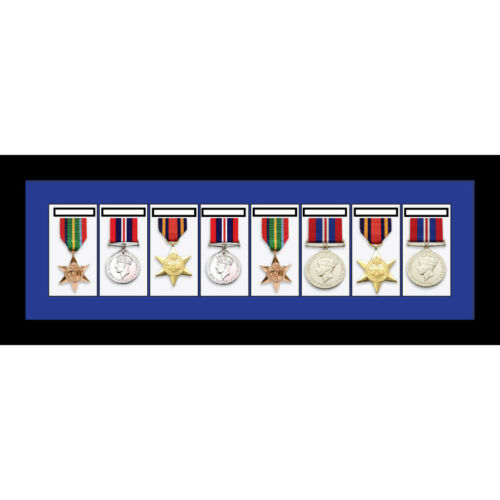 MEDAL Frame 8x World était Military Single or Group medals-Blue Mount