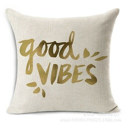 Funny Pop words Cotton Linen Pillow Case Cushion Cover Fashion Home Decor 18x18