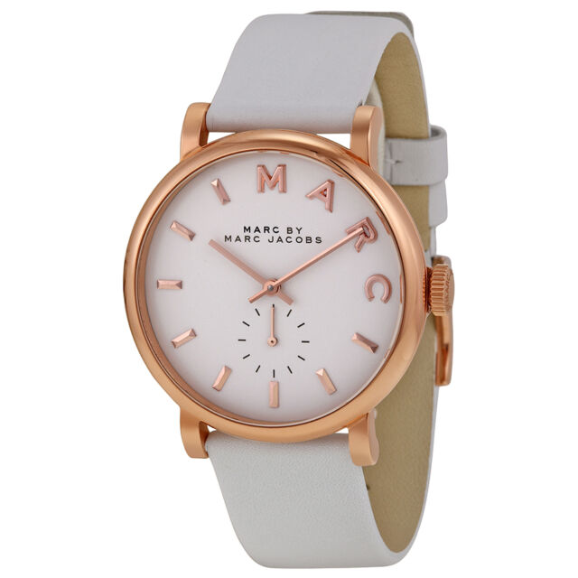Marc by Marc Jacobs Baker White Leather Ladies Watch MBM1283