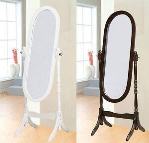 Standspiegel ankleidespiegel spiegel aus holz antik oval 150 x 53cm landhaus - Spiegel aus holz ...