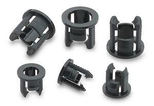 10-x-5mm-Snap-In-Black-LED-Holder-Clip-Bezel-Mount