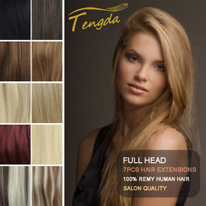 Real-Human-Hair-Extensions-Full-Head-16-034-30-034-Weight-80g-100g-120g-140g-Clips-In