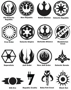 Star Wars Symbols Phone Window Decal Bumper Sticker 3 Sizes Sith Jedi Starwars Ebay