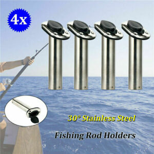 Heavy Duty SS316 Deluxe Rod Holders /& Drain Fishing Pole Holders-30 Deg EAN NEW