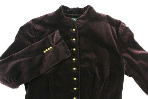 Ralph Lauren Women's Velvet Jacket Purple/Plum Mil