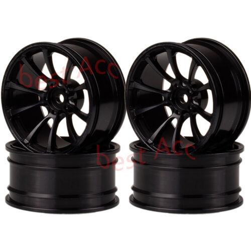 Traxxas AXIAL Tamiya WLTOYS 4P Aluminum Wheel Rim 1073 For RC 1//10 On-Road Drift