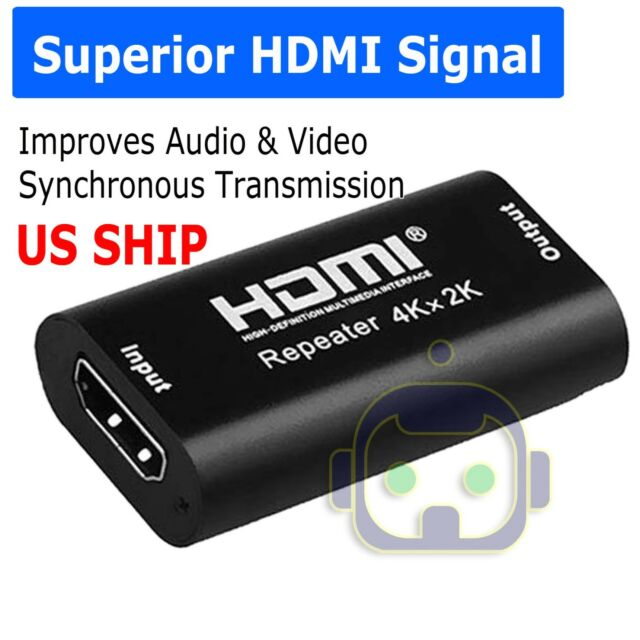 4K 2K 3D HDMI Cable Signal Repeater Extender Amplifier Booster up to 40M A309
