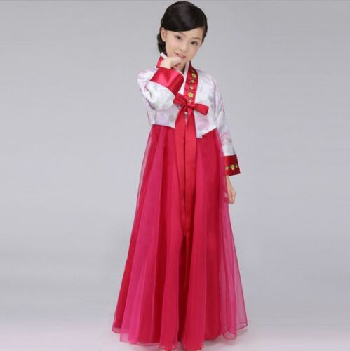 New Classic Korean Traditional Hanbok Girls Dress Stage Costume Clothing