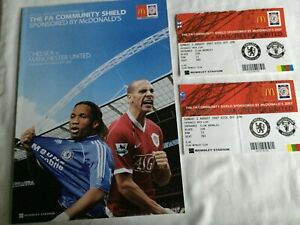 Chelsea-v-Manchester-United-and-2-Tickets-Community-Shield-2007-Programme