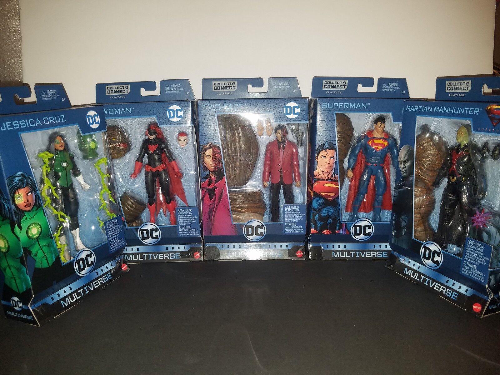 DC MULTIVERSE CNC CLAYFACE SET: SUPERMAN, BATWOMAN, JESSICA CRUZ 2-FACE, MARTIAN
