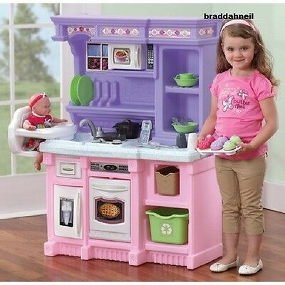 Little Kid Kitchen Play Sets Kids Pretend Girls Toys Cooking Set Toddlers  Fun Fr 733538825196 | eBay
