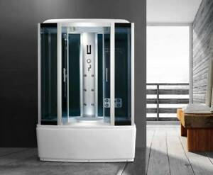 Cabina doccia idromassaggio vasca arredo bagno ozon cromo