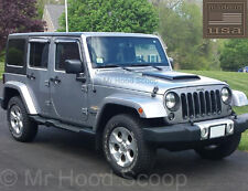 Jeep Wrangler Hood Scoop Ram Air Style With Grille Insert UNPAINTED HS003