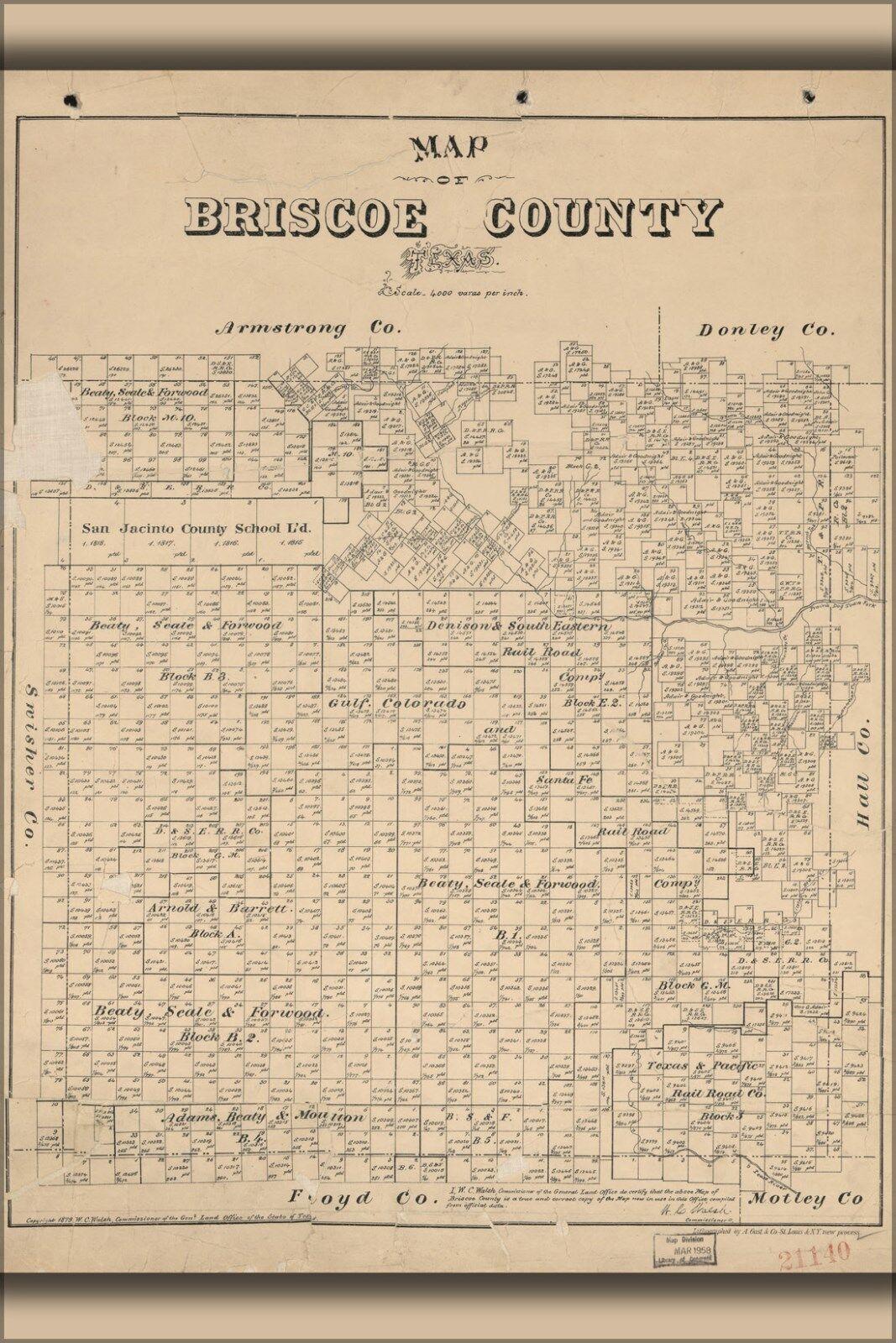 Plakat, Viele Größen; KKunste von Briscoe Grafschaft,