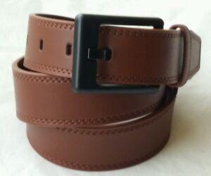 "Anti-allergic 34/"" Leather Belt Metalfree belt black Sz 30/"" Airport friendly"