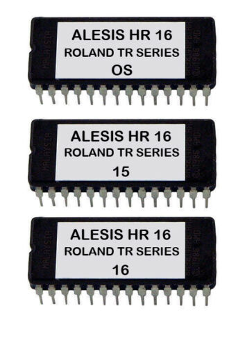 Roland TR 505 606 626 707 727 808 909 Sounds For Alesis HR-16 Hr-16B Eprom OS