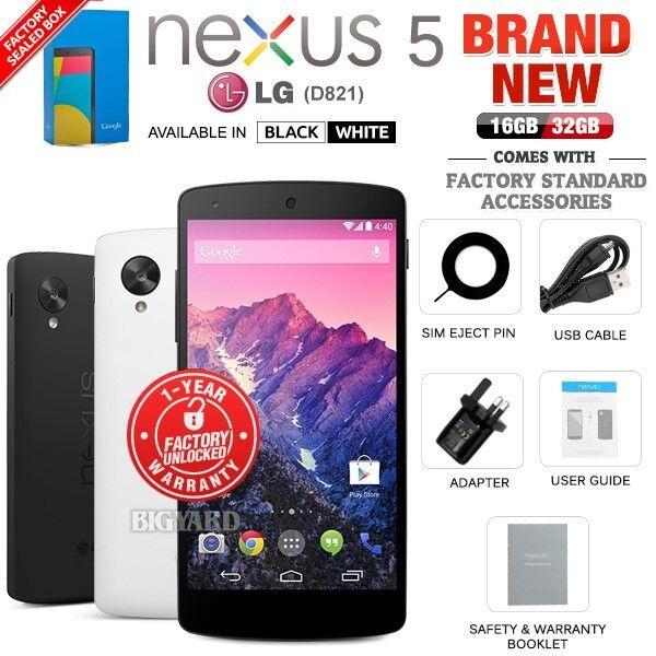 Nouveau Débloqué LG GOOGLE NEXUS 5 D821 16 32 Go Noir Blanc Android Phone