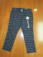 Sonoma Womens Life + Style Cropped Slim Pants Denim Plum Size 10 Modern Fit