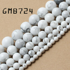 Free-Shipping-Natural-Stone-White-Howlite-Turquoise-Round-Loose-Beads-4-6-8-10mm