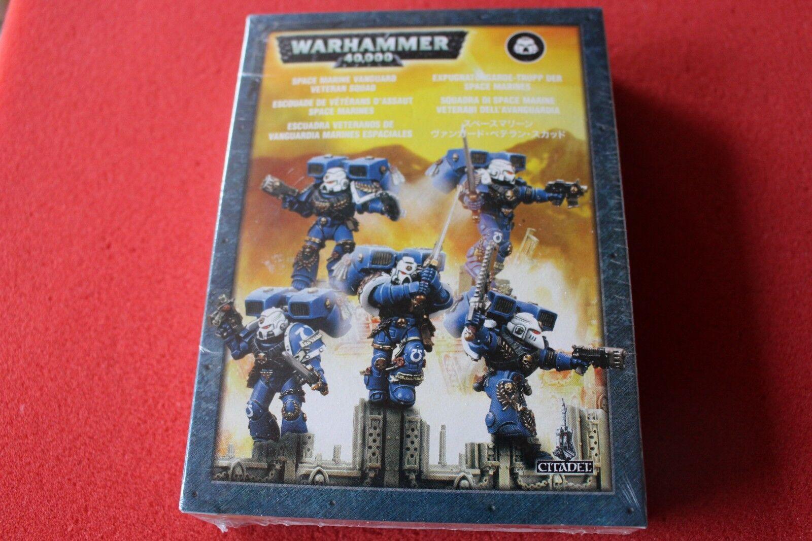 Warhammer 40k Space Marines Vanguard anciens combattants Squad Metal Games Workshop Marine