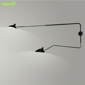 Serge Mouille Arm Rotating Wall lamp LED Bracket light For Living room Lighting