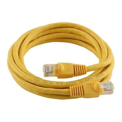 25 Pack Lot 7ft CAT5e Ethernet Network LAN Router Patch Cable Cord WireYellow
