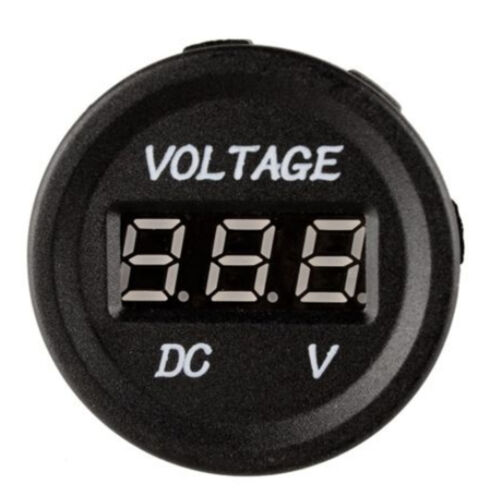 12V 24V Motorcycle Red LED Light Digital Display Voltmeter Meter Waterproof