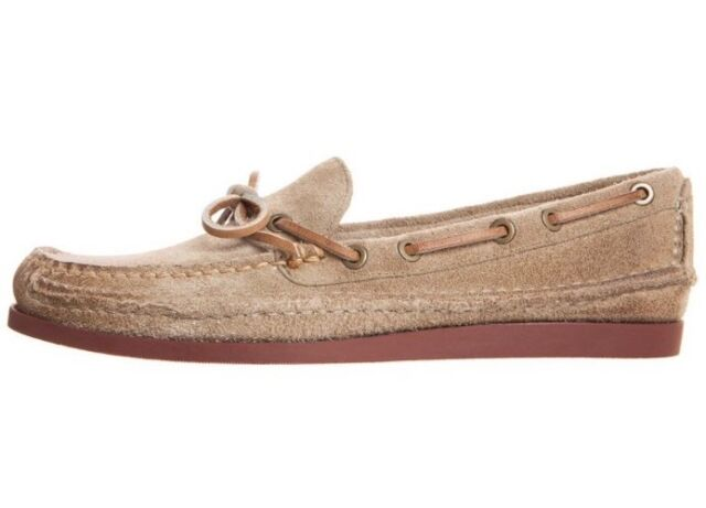BNIB FRYE MASON TIE Boat Moccasin Shoes Sand Size 9 Guaranteed Genuine