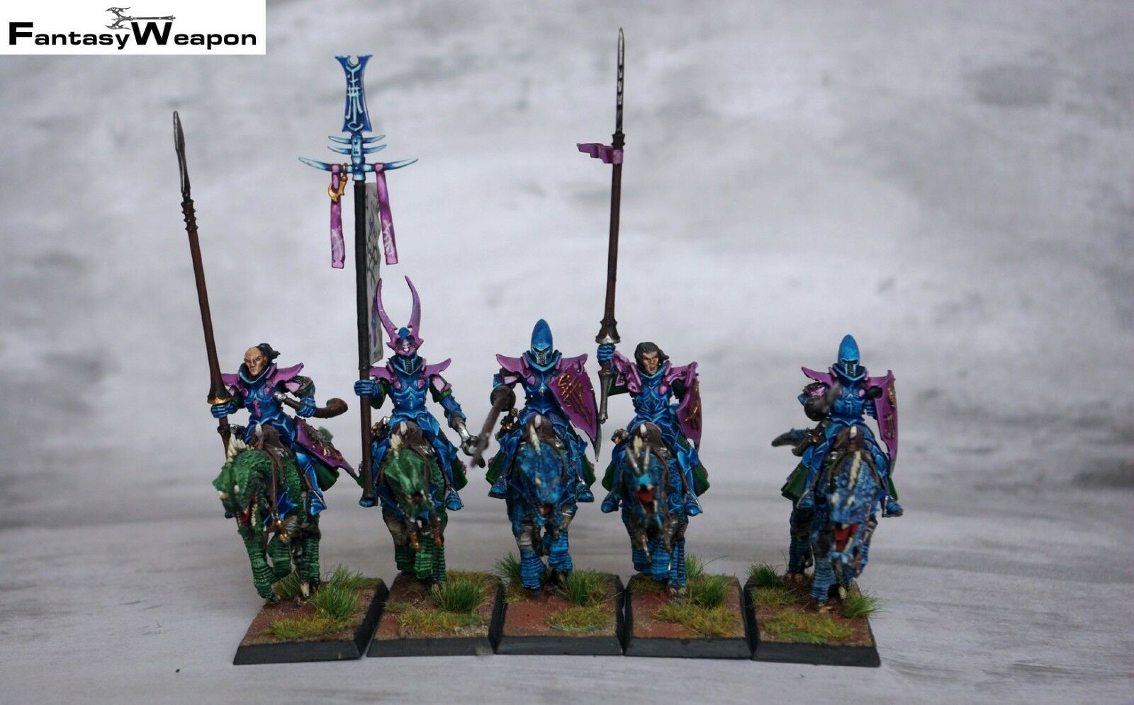 Drakespawn Knights    Cold One Knights Pro Painted  warhammer wfb age of sigmar