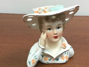 Vintage-Lefton-Headvase-head-Vase-3140-5-3-4-034-Hand-painted