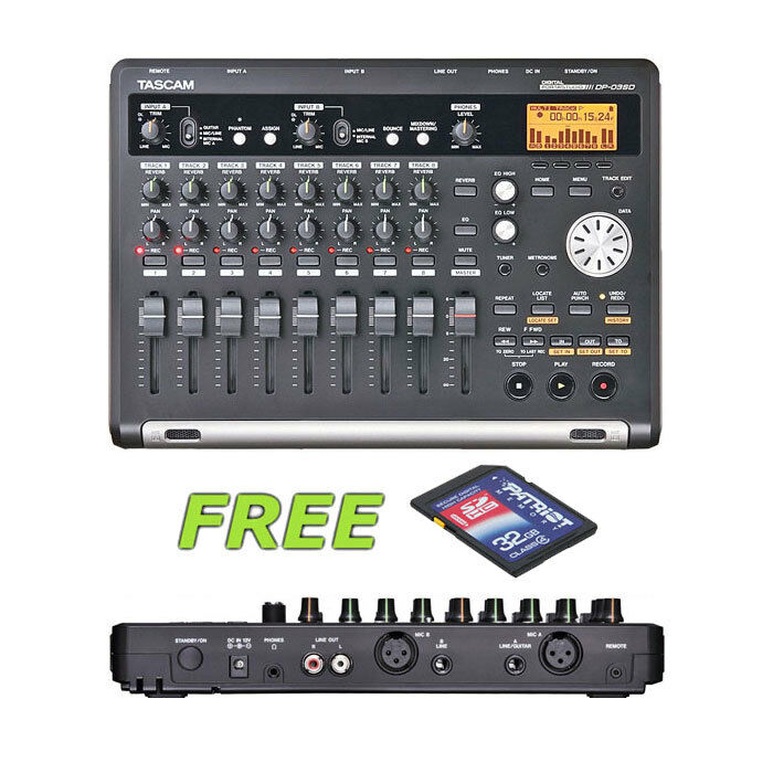 TASCAM DP-32SD 32 TRACK DIGITAL PORTASTUDIO 32GB SD SDHC MEMORY CARD UPGRADE