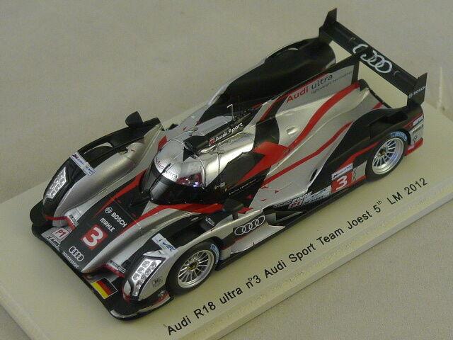 Spark S3702 - AUDI R18 Ultra Team Joest n°3 5ème Le Mans 2012 1 43