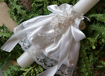 Kerzentuch Kommunion Taufe Hochzeit  Neu weiss*  Kerzenrock