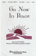 Don Besig Go Now In Peace Learn to Play Vocal Choral Choir Sing Xmas Music Book