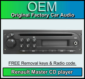 Details about Renault Master CD player with AUX IN, Renault car stereo +  radio code, keys
