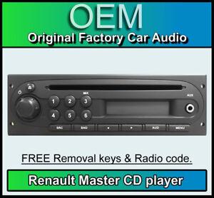 renault master lecteur cd avec entr e aux renault autoradio code radio cl ebay. Black Bedroom Furniture Sets. Home Design Ideas