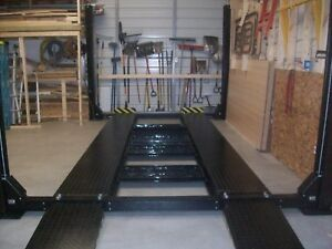 NEW-4-Post-Parking-car-lift-truck-Hoist-9000-lb-capacity-extra-long-and-tall