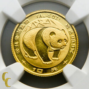 1983-Gold-Chinese-Panda-1-10-oz-10-Yuan-Graded-by-NGC-MS-69