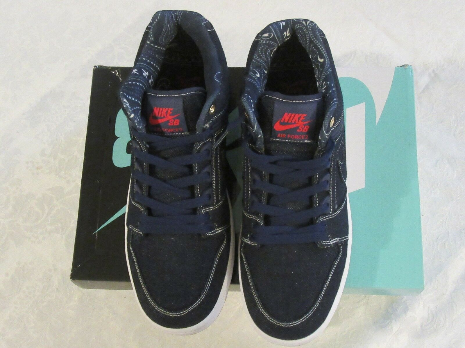 Nike SB Air Force II 2 East West Coast Rivals Tupac Biggie Smalls Low AO0298 441