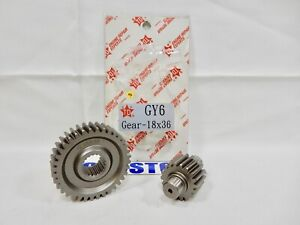Details about TAIDA SECONDARY GEAR SET (18*36) FOR SCOOTERS WITH 150cc GY6  MOTORS