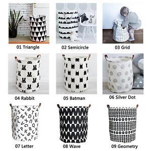image is loading practical canvas decorative storage baskets clothing organizer laundry - Decorative Storage Baskets