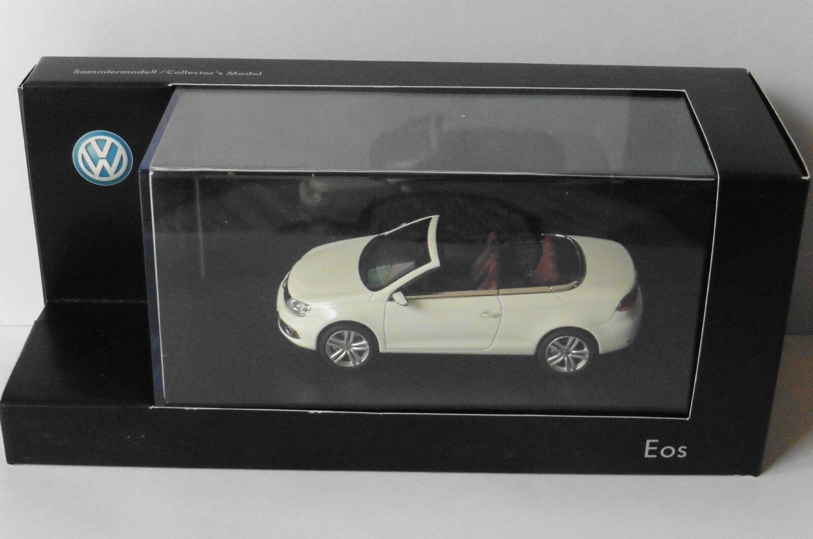 VW VOLKSWAGEN EOS CABRIOLET 2012 blanc KYOSHO 1Q1099300B9A 1 43 WEISS blanc
