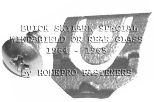 FITS BUICK SPECIAL SKYLARK 1964-1965 WINDSHIELD REAR GLASS REVEAL MLDG CLIPS  20