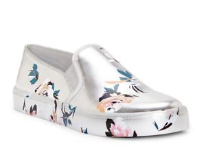 Jessica Simpson Dinellia Women's Metallic Floral Print Sneaker Sz 8.5 5028