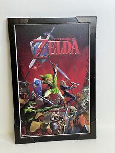 """Nintendo Zelda Link Video Game Room Art Print Frame 13""""X19""""  Framed Poster"""